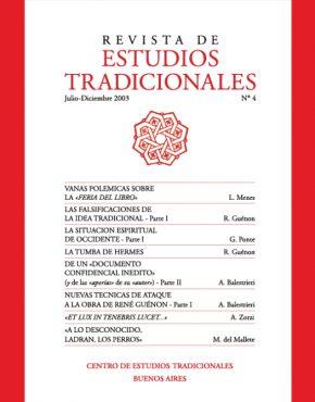REVISTA DE ESTUDIOS TRADICIONALES Nº 4