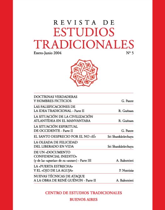 REVISTA DE ESTUDIOS TRADICIONALES Nº 5