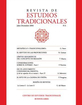 REVISTA DE ESTUDIOS TRADICIONALES Nº 6