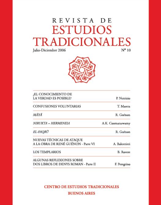REVISTA DE ESTUDIOS TRADICIONALES Nº 10