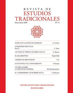 REVISTA DE ESTUDIOS TRADICIONALES Nº 15