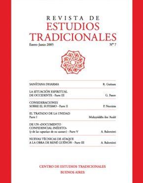 REVISTA DE ESTUDIOS TRADICIONALES Nº 7