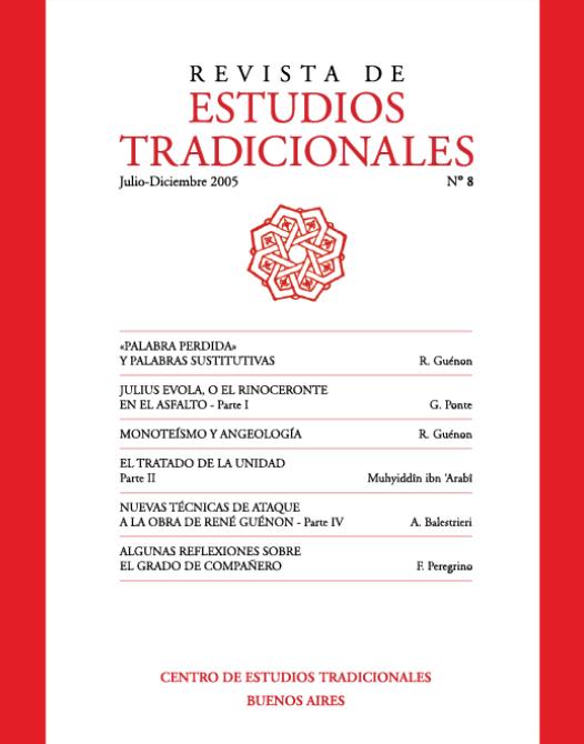 REVISTA DE ESTUDIOS TRADICIONALES Nº 8