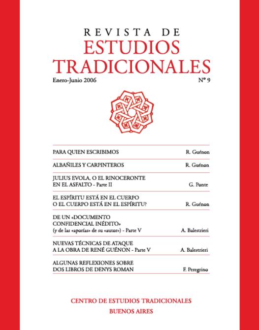 REVISTA DE ESTUDIOS TRADICIONALES Nº 9