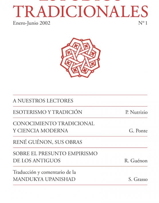 Revista de Estudios Tradicionales 1
